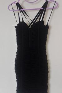 H&M Czarna tiulowa mini sukienka 34...