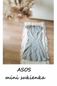Śliczna mini sukienka ASOS szara XXS XS...
