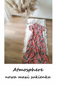 Nowa maxi sukienka letnia długa Atmosphere XL XXL w liście lato...