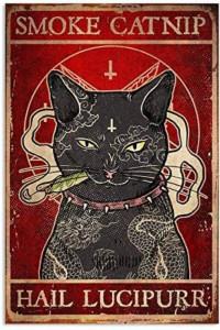 Smoke catnip hail Lucipurr kot szyld plakat tabliczka 20 x 30 c...