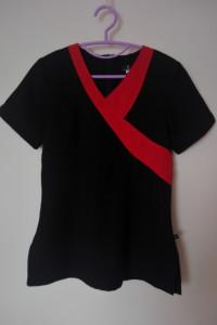 Tunika kosmetyczna czarna z czerwona wstawką 36 38...