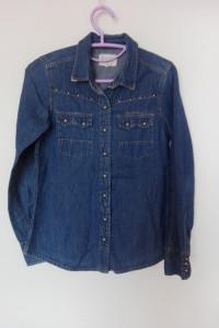 Pull&Bear Jeansowa koszula z ćwiekami 36...