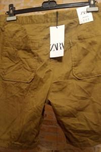 42 XL ZARA Lniane szorty krótkie spodenki z Madrytu NOWE...
