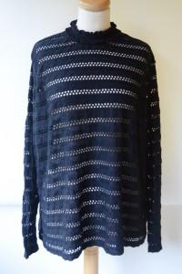 Bluzka H&M Ażurowa XXXL 46 Czarna Koronkowa...