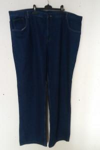 Granatowe jeansy z wysokim stanem prosta nogawka 54 56...