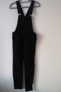 H&M Czarne jeansowe ogrodniczki rurki 34...
