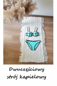 Dwuczęściowy kostium kąpielowy S M bikini push up strój kąpielowy