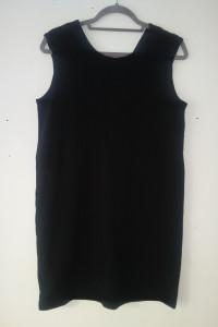 Czarna prosta sukienka oversize 36...