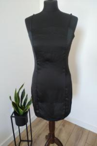 Sukienka czarna satynowa mała czarna M 38 nowa S 36...