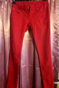 Czerwone spodnie jeansowe R PING JEANS rozmiar 27...