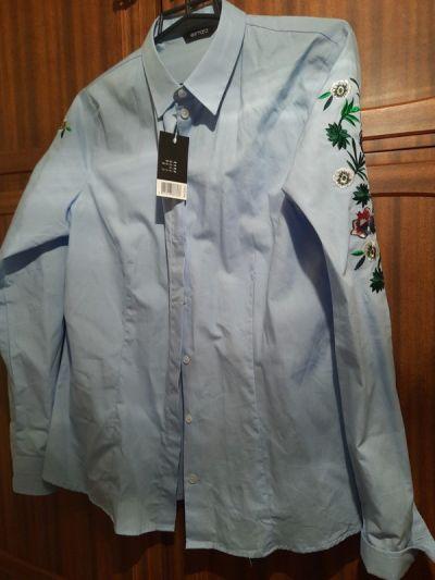 Koszule Błękitna damska koszula Esmara 40 42 z metka dlugi rekaw