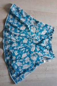 BonMarche bawełna spódnica z falbanką w kwiaty r 48 nowa...