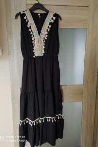 czarna sukienka vintage boho