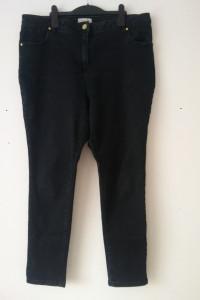Czarne jeansy rurki skinny wysoki stan 48 50...