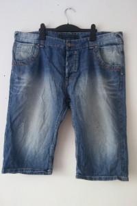 Jeansowe męskie spodenki szorty 48