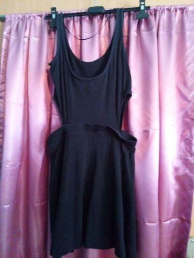 Suknie i sukienki Czarna asymetryczna sukienka CROPP