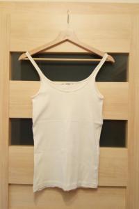 Koszulka damska na ramiączkach kremowa S...