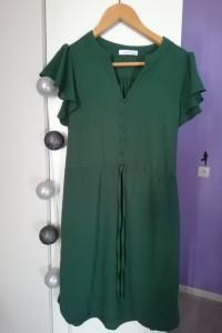 Sukienka Reserved zieleń butelkowa S...