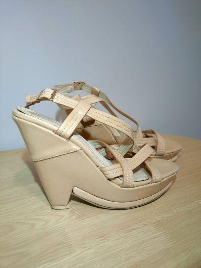 Sandały Sandałki na koturnie