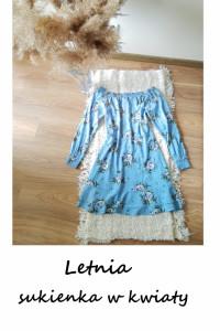 Letnia sukienka w kwiaty L XL XXL hiszpanka...