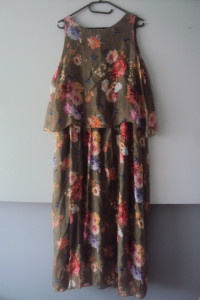 nowa jedwabna sukienka...