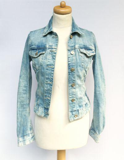 Odzież wierzchnia Kurtka Katanka Dzinsowa H&M XS 34 Jeansowa Dzins