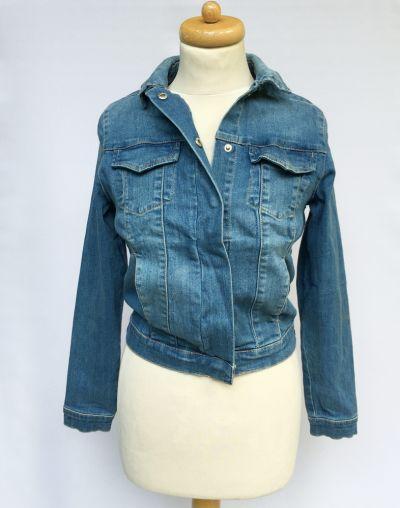 Odzież wierzchnia Kurtka Katnka Dzinsowa Cubus XS 34 Niebieska Dzins Jeans