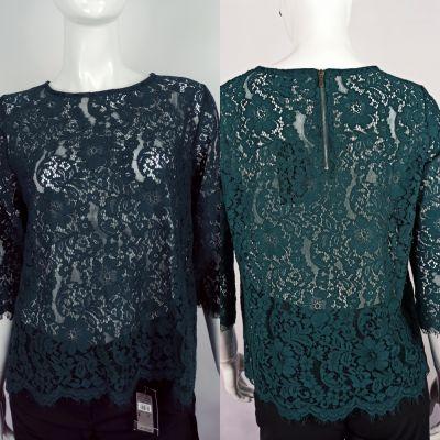 Bluzki Zielona koronkowa bluzeczka