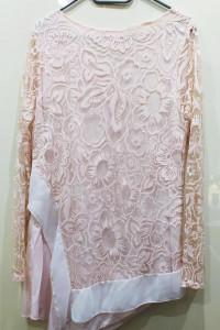 Tunika różowa z podwójnego materiału...