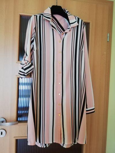 Suknie i sukienki Sukienka tunika koszulowa