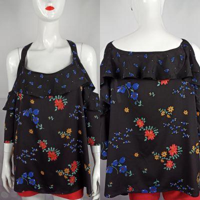 Bluzki Piękna czarna bluzeczka z odkrytymi ramionami