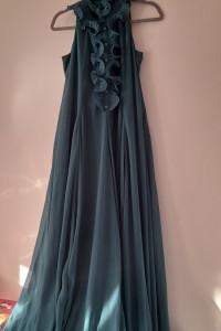 H&M Zielona szyfonowa maxi suknia 36...