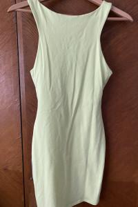 Sukienka limonkowa...
