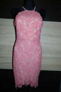 Glamorous sukienka gipiura RÓŻ roz 38...