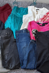Zestaw 11 sztuk ubrań damskich 42 XL...