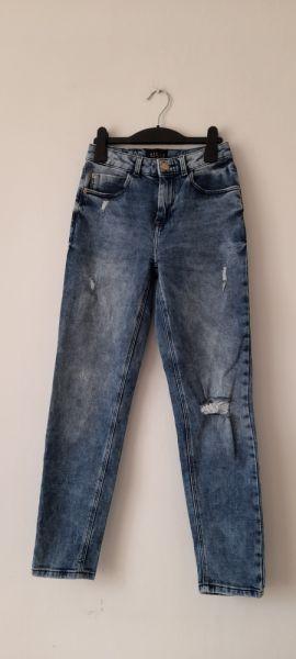Spodnie Mohito jeansy rurki z wysokim stanem 34
