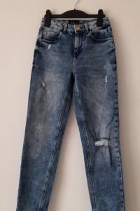 Mohito jeansy rurki z wysokim stanem 34...