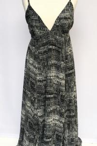 Sukienka Maxi Wzory L 40 H&M Długa Long Czarna Rozkloszowana...