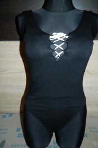 Missguided czarne body wiązany dekolt roz 36...