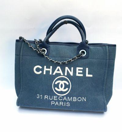 Torebki na co dzień Torebka Chanel Torba Sopper Bag Granatowa Logo