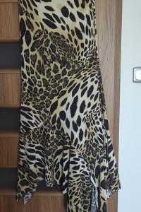 Sukienka w panterkę asymetryczna...
