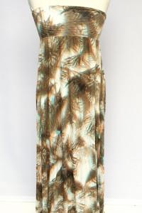 Sukienka Wzory Maxi Long Długa H&M XS 34 Rozkloszowana Na Dekol...