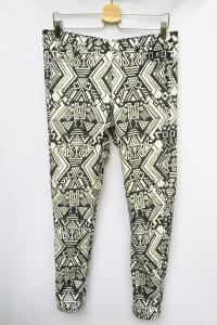 Spodnie Tregginsy Rurki H&M XL 42 Wzór Aztecki Aztec...