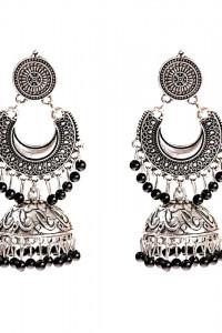 Nowe kolczyki indyjskie boho hippie etno folk srebrny kolor cza...