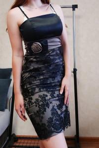 Elegancka wizytowa sukienka z koronką rozmiar S...
