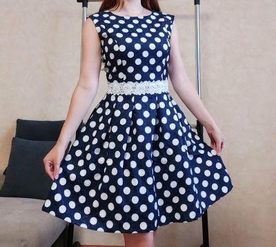 Suknie i sukienki Urocza sukienka w groszki rozmiar 38