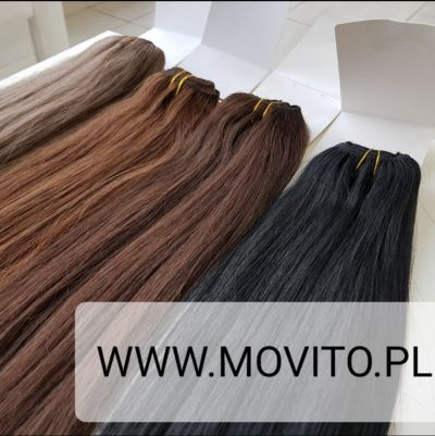Ozdoby na włosy CLIP IN 55 cm WŁOSY NATURALNE