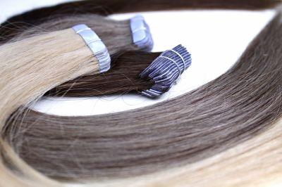 Ozdoby na włosy NATURALNE WŁOSY TAPE ON 40 cm 20 szt