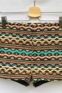 Spodenki Wzory Aztec Azteckie H&M Coachella S 36 Szorty