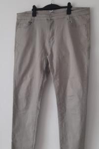 Szare elastyczne spodnie rurki skinny 50...